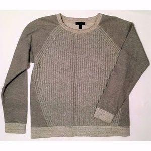 J. Crew M Knit Sweatshirt/Sweater Gray